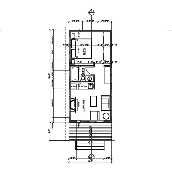 28 pin modern cabin floor plans small modern cabin for Modern cabin floor plans